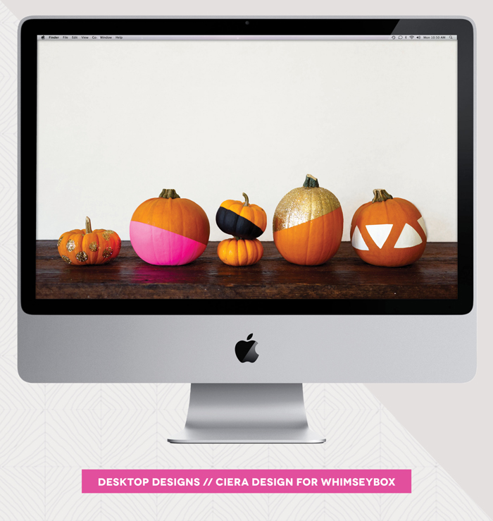 Color Blocked Pumpkins Desktop Designs by Ciera Design