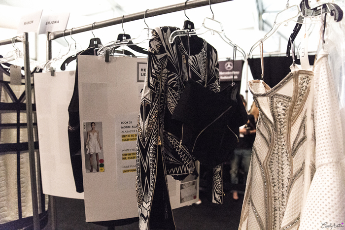 herve leger back stage new york fashion week spring 2014 7