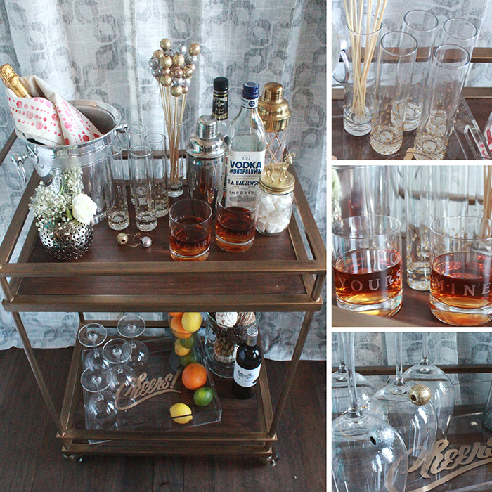 Bar Cart and Cocktail DIY