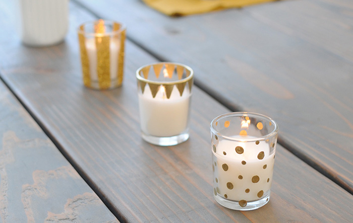 Gold Gilded Candle Votives