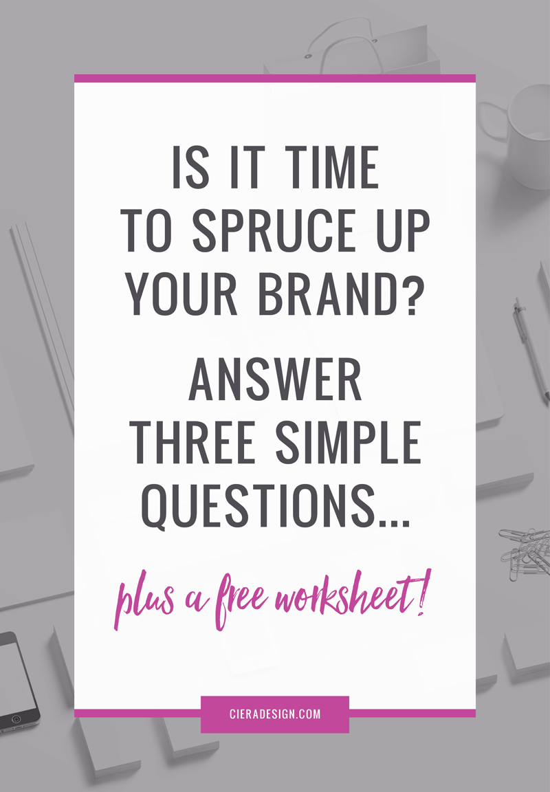 Click through for a free worksheet to see if it's time for you to rebrand!