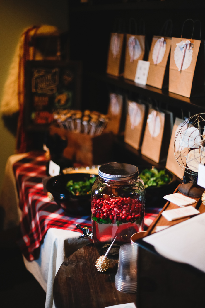 Cozy Cabin Party Table Setting
