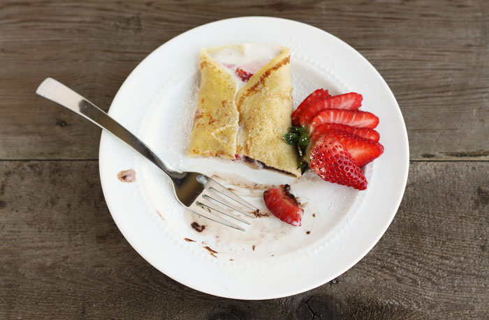 Crepes with Nutella & Strawberries