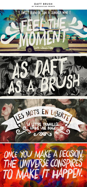 Daft Brush by Pintassilgo Prints