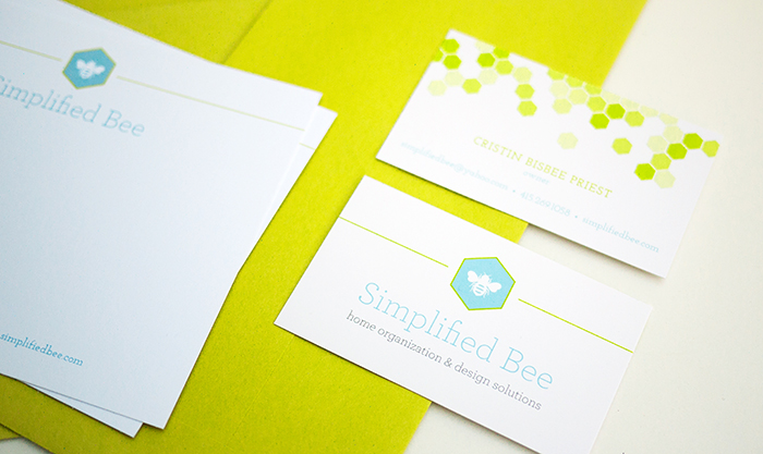 Simplified Bee Brand Identity - Cards
