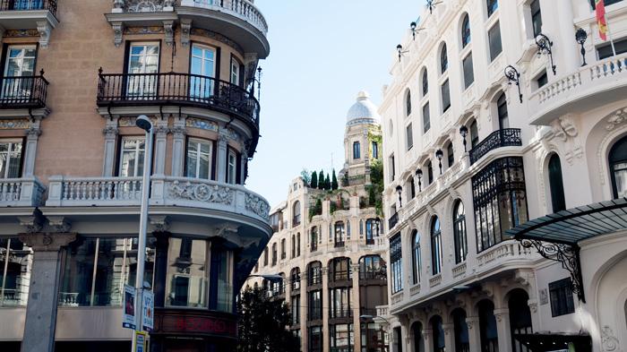 Calle de Alcalá Street Madrid Spain