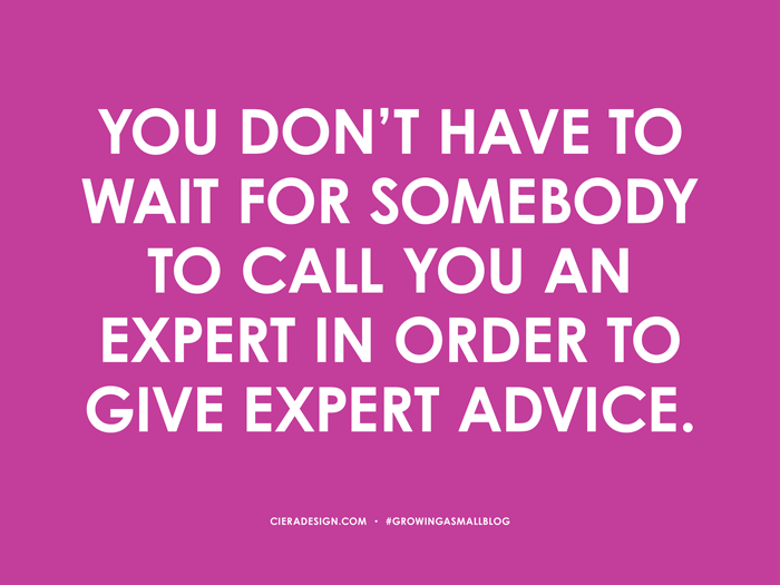 Give Expert Advice