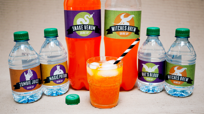 Fanta and Dasani Free Halloween Labels