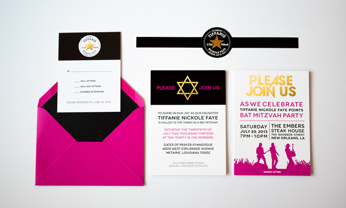 Rock Band & Converse Themed Event and Invitation Design