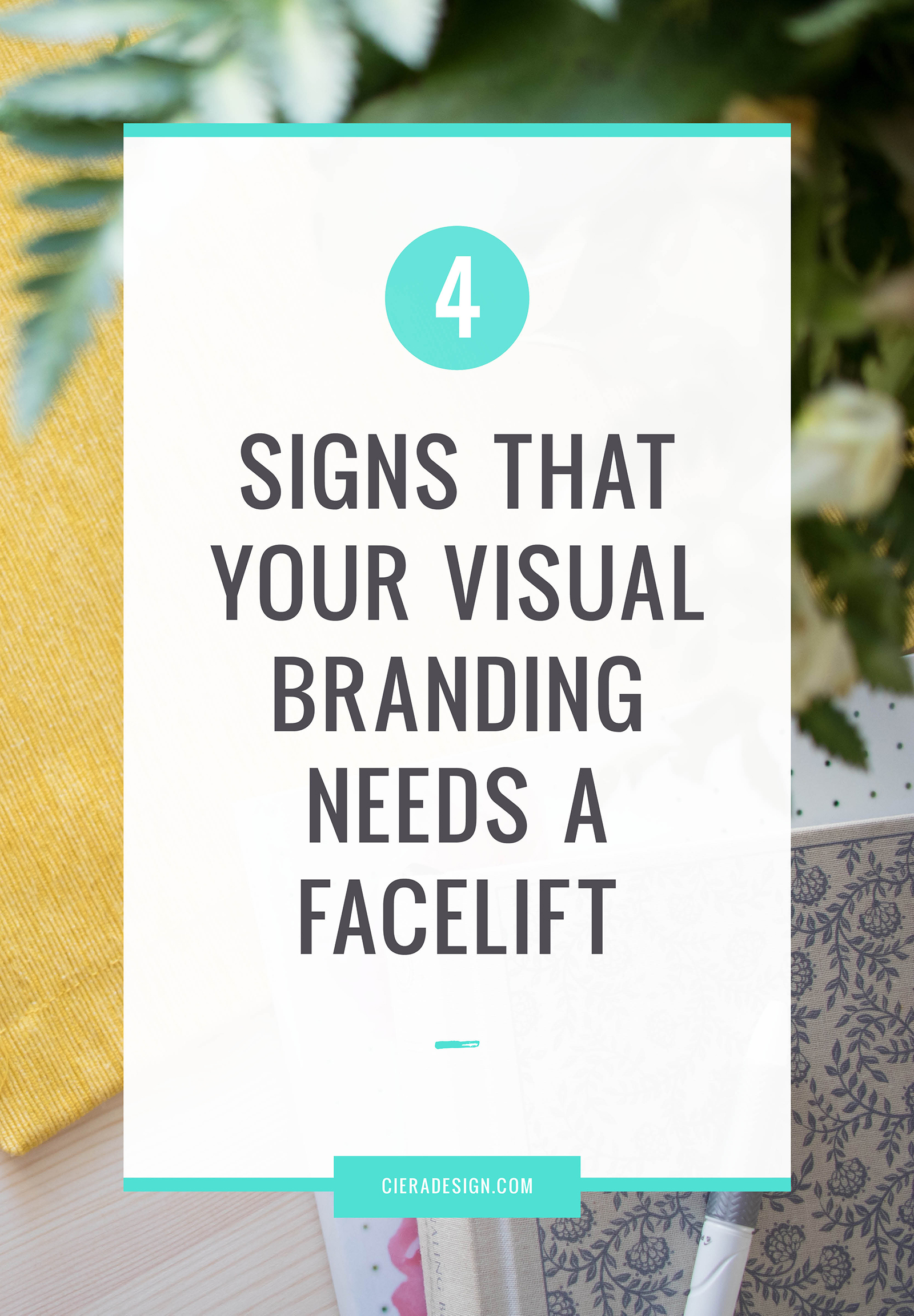 Does your visual branding need a refresh or maybe even a total overhaul? Is yourbrand identitymaking a good first impression on your potential clients?Not sure, here are foursigns that your identity design may needafacelift.