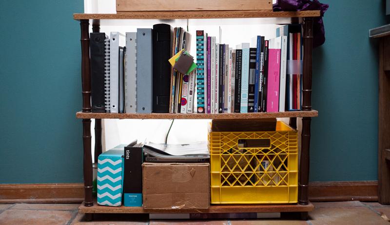 Upcycled Home Office Bookshelf Craftbnb
