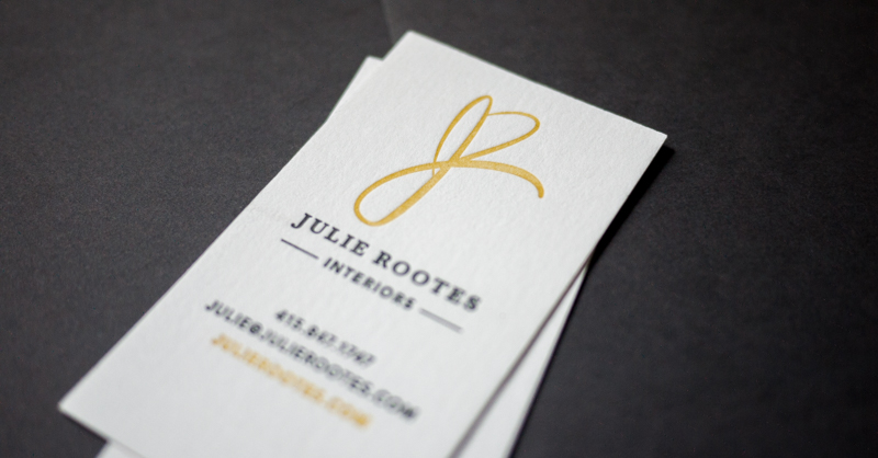 Interior Design Letterpress Business Card