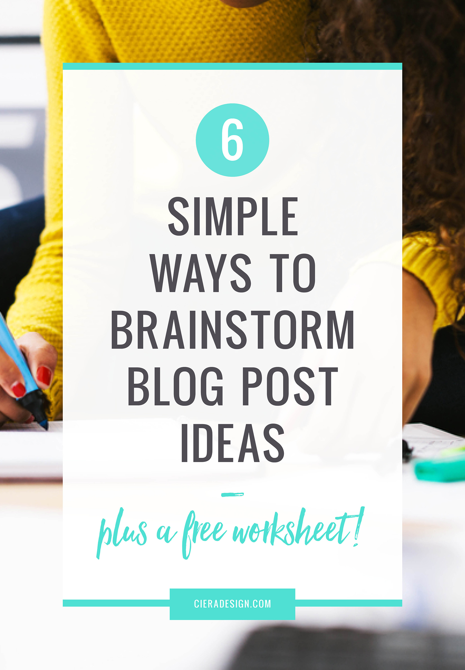 Download This Free Worksheet to Help You Brainstorm Blog Post Ideas