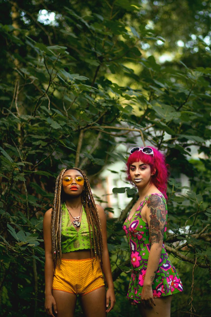 jungle goddesses in vintage Egyptian tank
