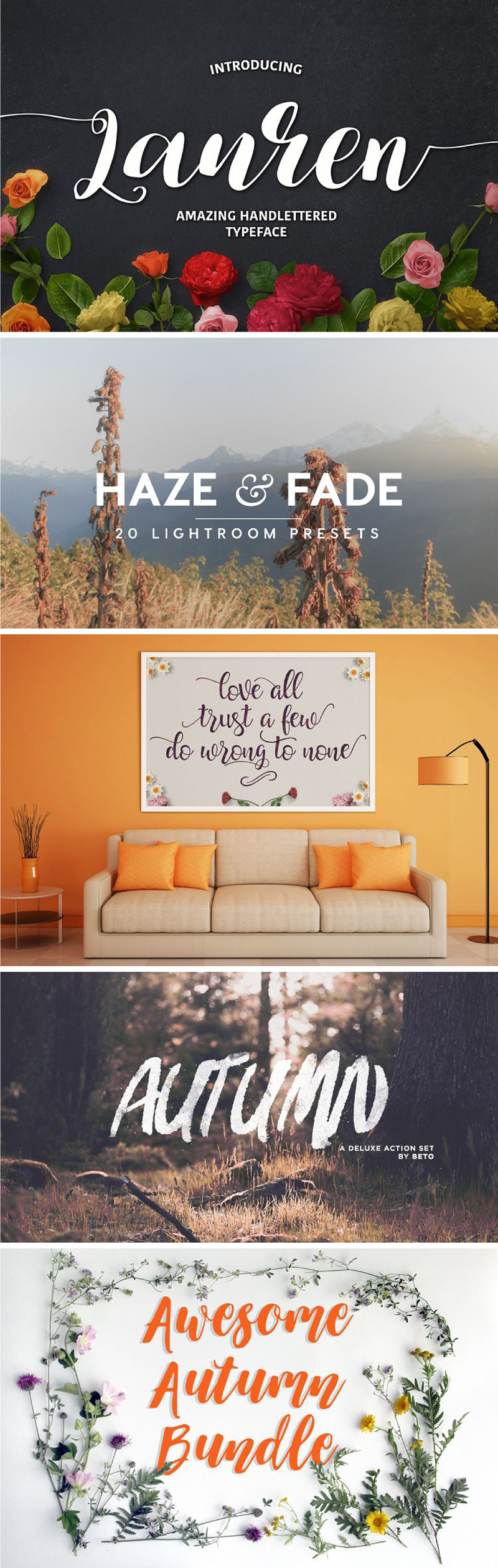 Autumn Design and Font Bundle