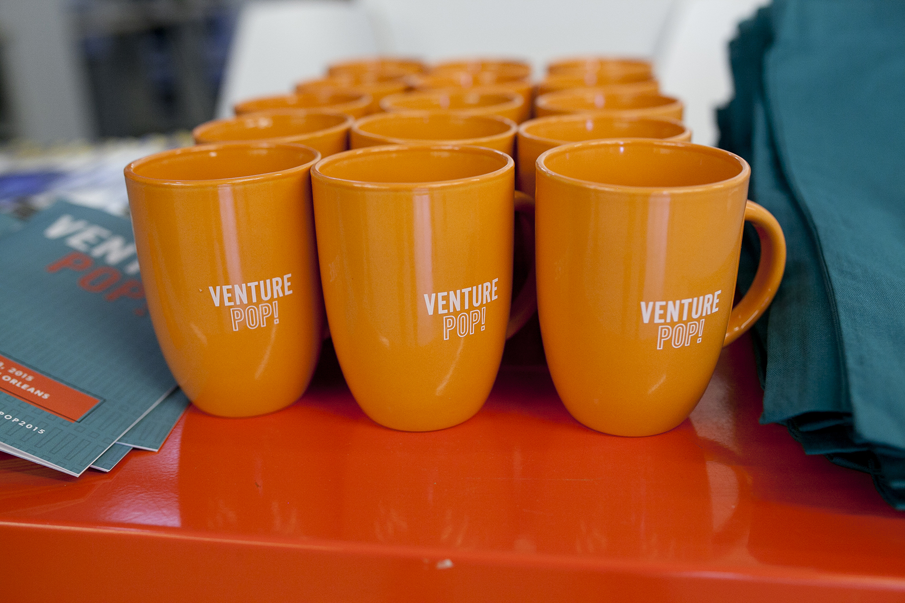 event swag logo mugs