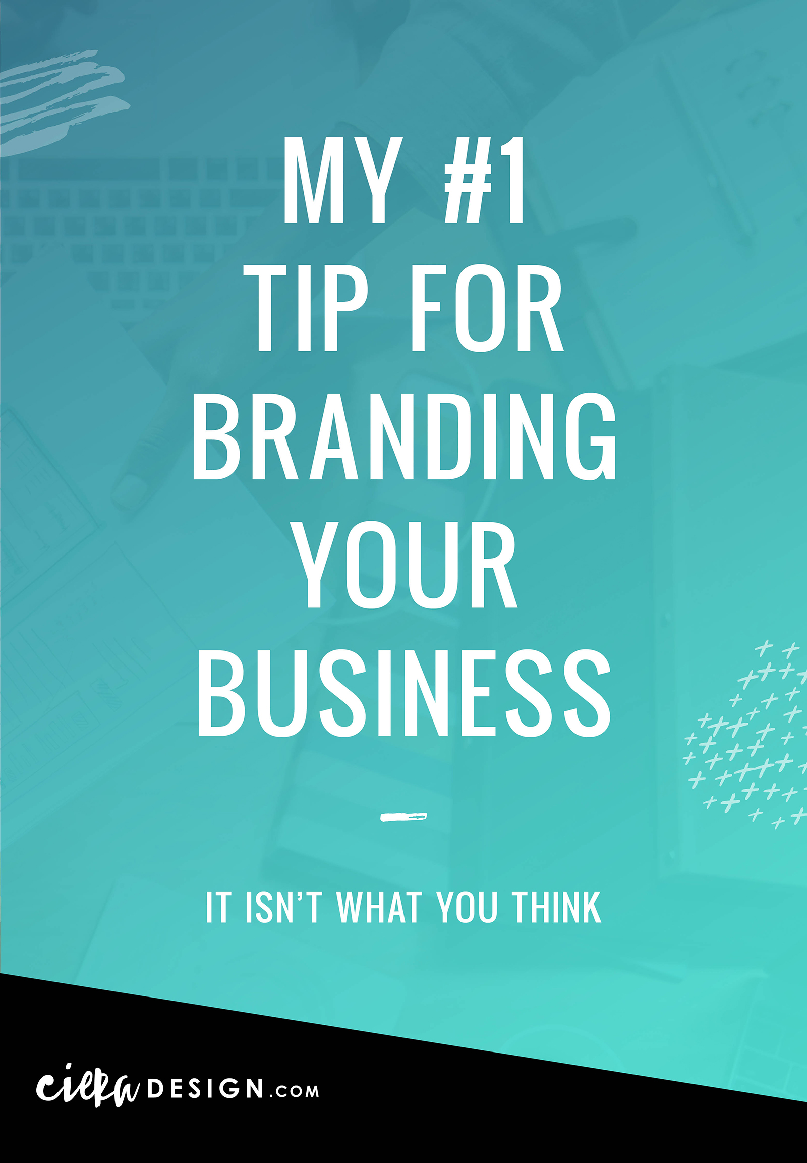 """I was recently asked, """"What is your best tip for branding a business?"""" And you may be surprised that my answer was not """"hire a designer to create an amazing logo"""" or wasn't really design related at all...⠀"""