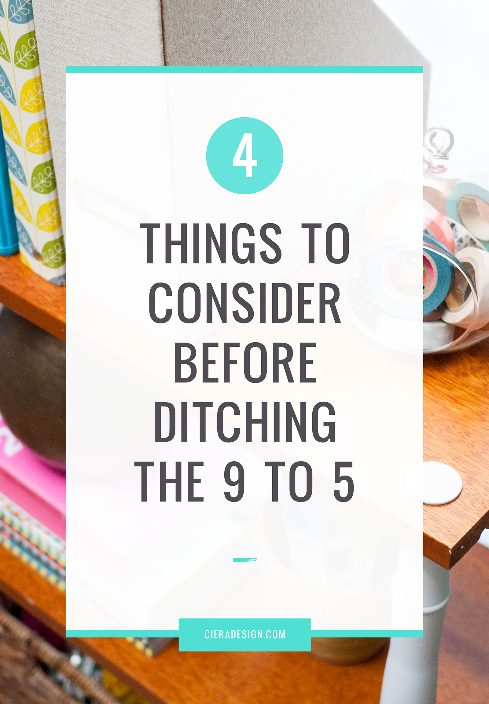That idea that's been germinating in your head is ready to be planted. You've finally reached your limit on what the world of a 9 to 5 office job can offer you and it's time you spread your wings and soared. We're digging into the top 4 things to consider and prepare for before ditching the 9 to 5.