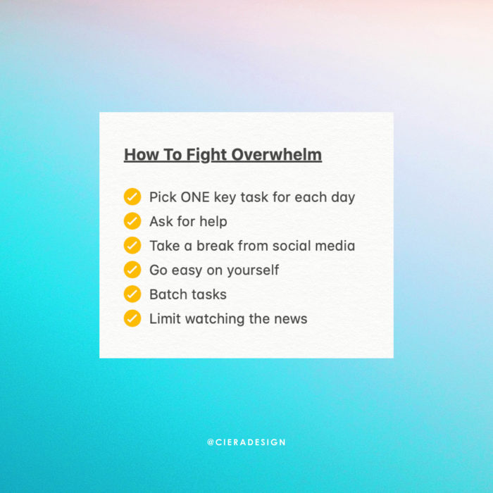 How To Fight Overwhelm