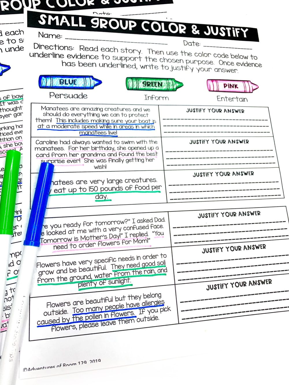 medium resolution of Author's Purpose Printables (Print \u0026 Digital) - Ciera Harris Teaching