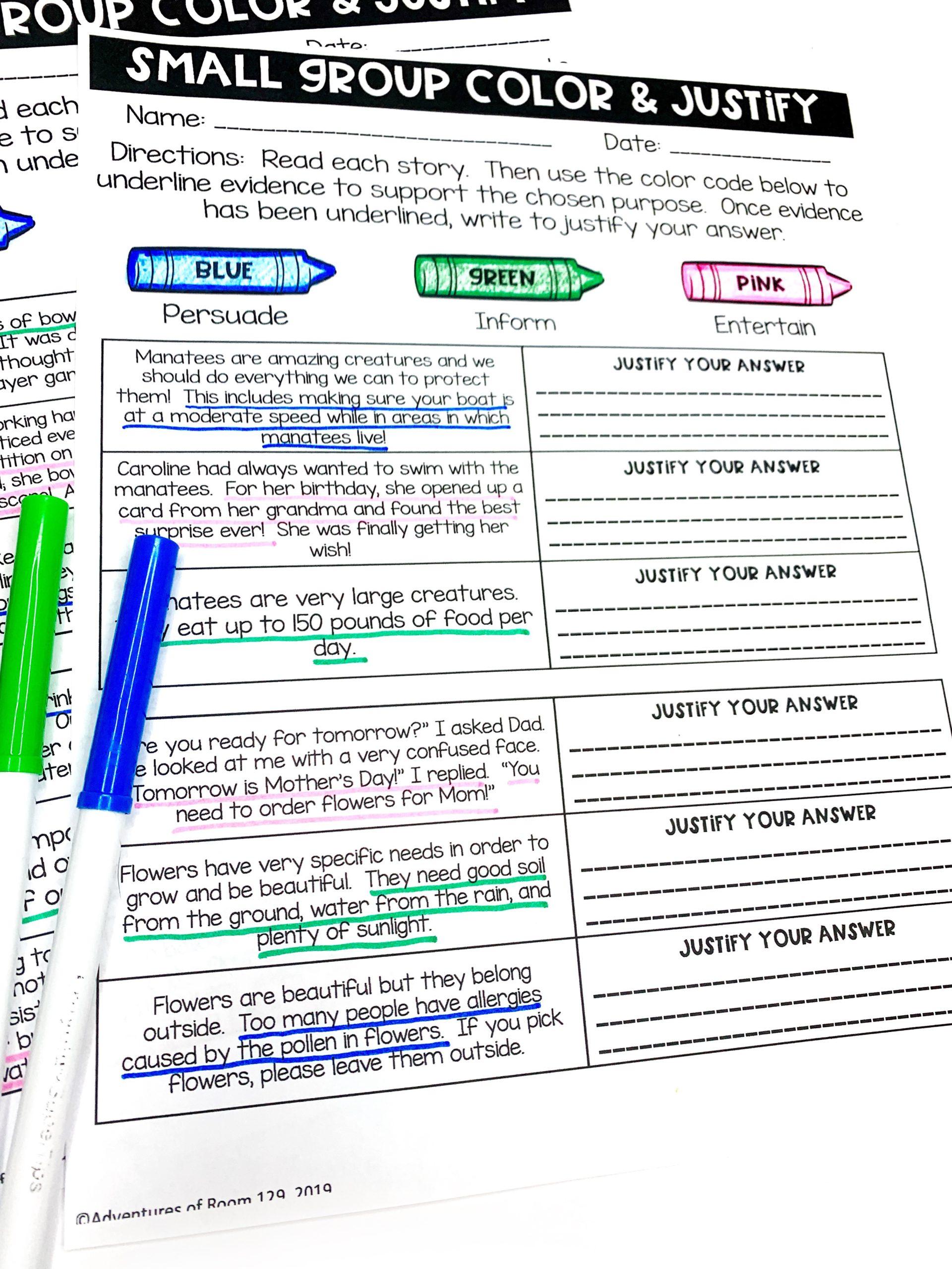 hight resolution of Author's Purpose Printables (Print \u0026 Digital) - Ciera Harris Teaching