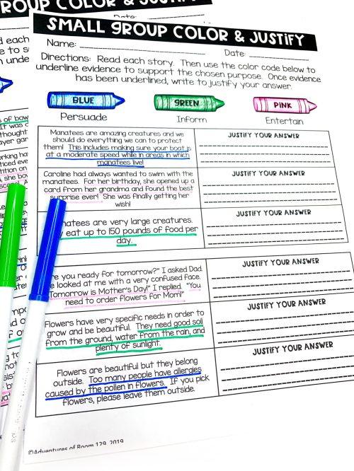 small resolution of Author's Purpose Printables (Print \u0026 Digital) - Ciera Harris Teaching