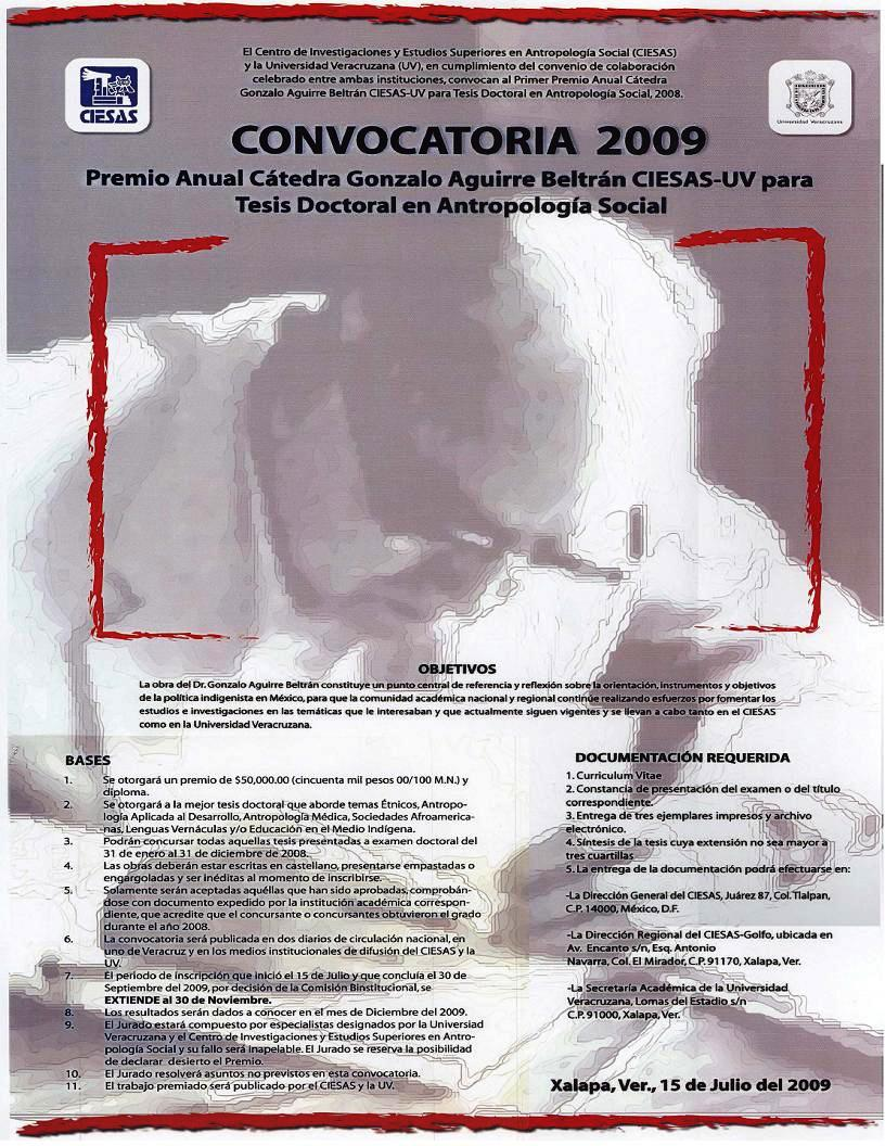 Premio Cátedra Gonzalo Aguirre Beltrán