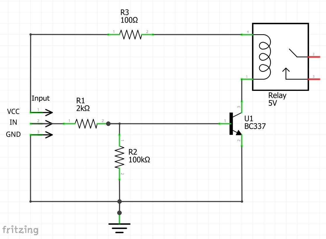 hight resolution of this circuit is for a 5v relay to be attached to an arduino nano the first version is a recommendation that i found on the internet
