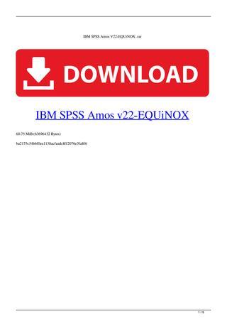 Spss 22 Free Download Full Version With Crack : download, version, crack, Torrent, Equinox, Cifasr