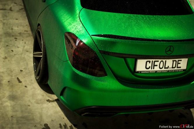 C63 AMG - British racing green - CiFol-Werbetechnik (01)