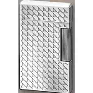 IM Corona Double Corona Pewter Finish with Etched Design Lighter