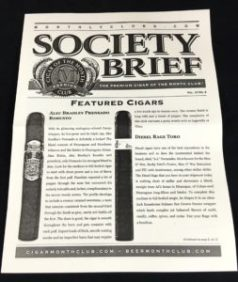 premium cigar of the month club newsletter