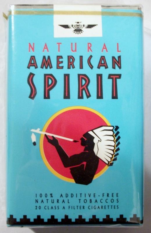 American Spirit: Natural, Filter - vintage American Cigarette Pack