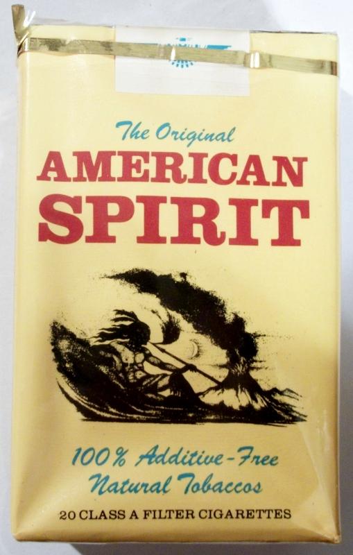American Spirit: The Original, Filter - vintage American Cigarette Pack