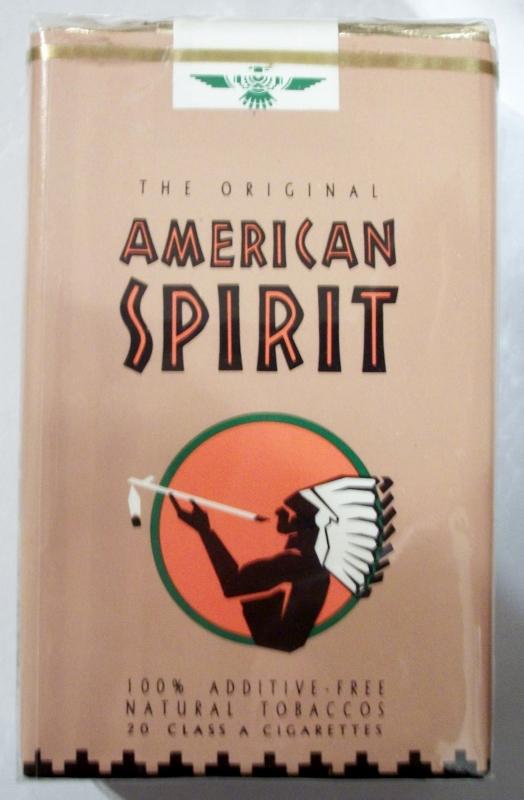 American Spirit: The Original - King Size, vintage American Cigarette Pack