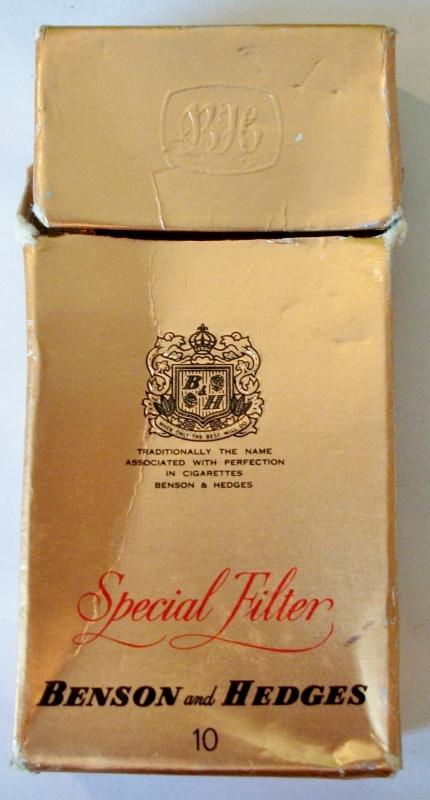 Benson & Hedges Special Filter 10-pack - vintage Fijian Cigarette Pack