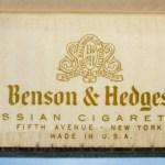 Benson & Hedges No. 3 Gold Russian Cigarettes 1948 100mm