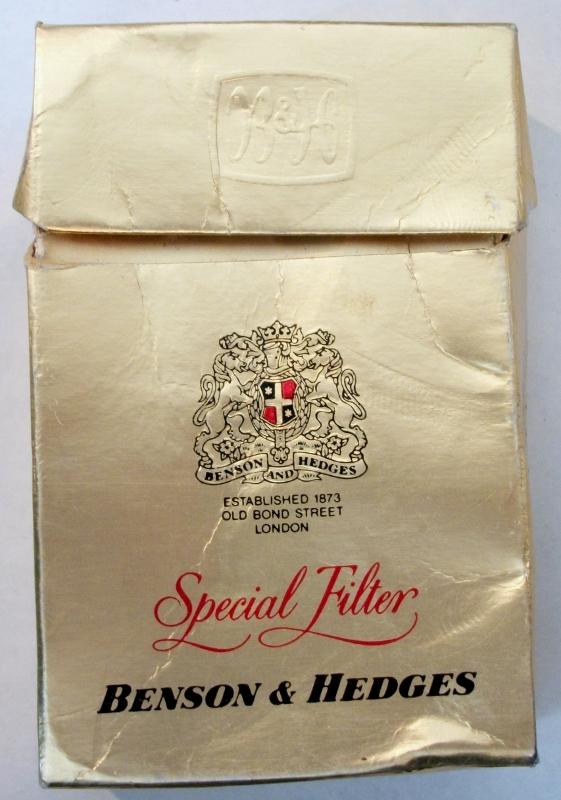 Benson & Hedges Special Filter - vintage South African Cigarette Pack