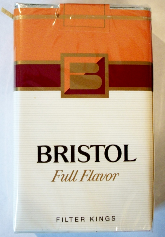 Bristol Full Flavor, Filter Kings - vintage American Cigarette Pack