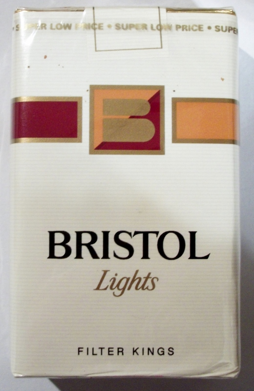 Bristol Lights, Filter Kings - vintage American Cigarette Pack