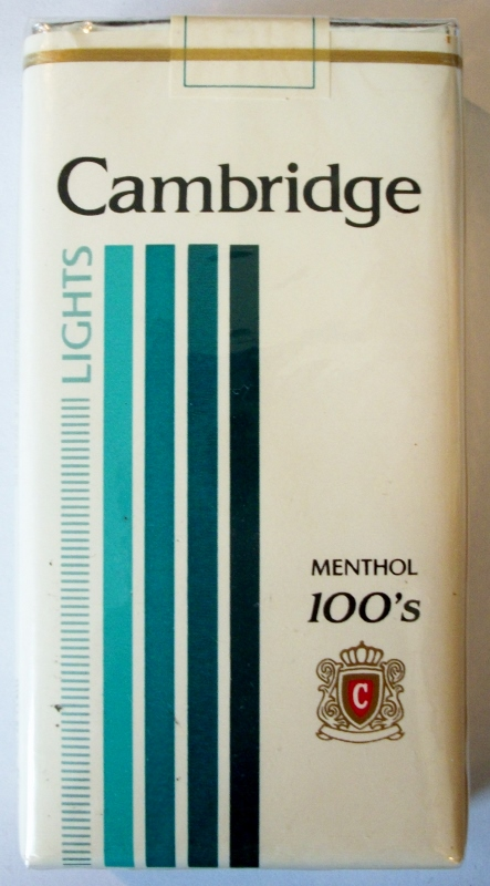Cambridge Lights Menthol 100's - vintage American Cigarette Pack
