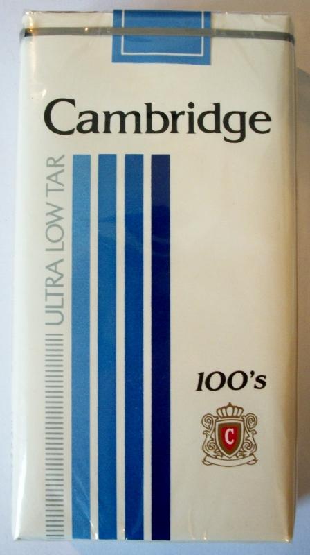 Cambridge Ultra Low Tar 100's - vintage American Cigarette Pack (version 1)