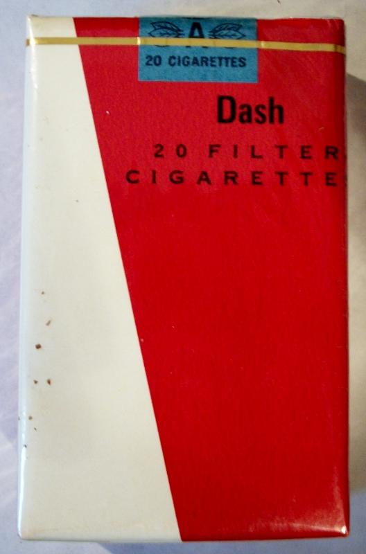 Dash Filter, King Size - vintage Trademark Cigarette Pack