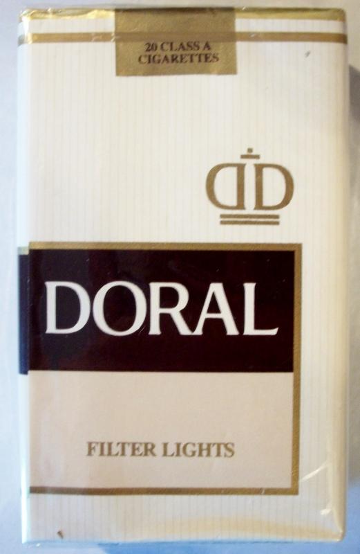 Doral Filter Lights King Size - vintage American Cigarette Pack