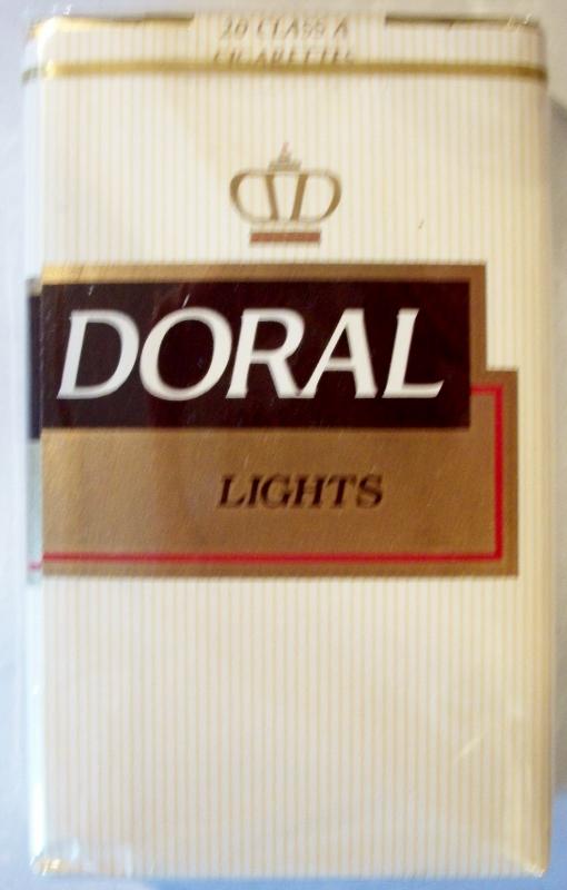Doral Lights, King Size - vintage American Cigarette Pack