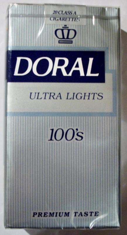 Doral Ultra Lights 100's - vintage American Cigarette Pack