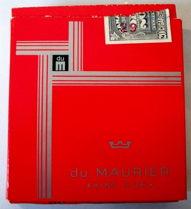 du Maurier, King Size flat box,