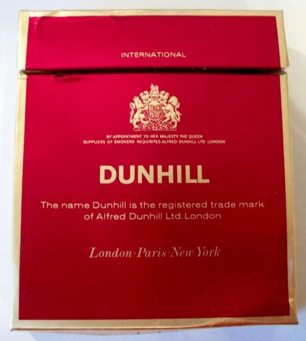 Dunhill International flat box - vintage British Cigarette Pack