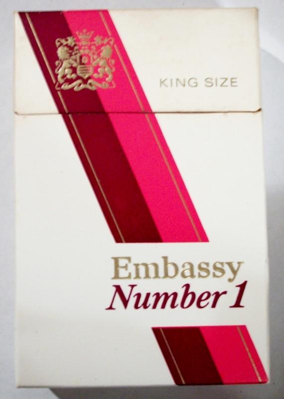 Embassy Number 1, King Size - vintage British Cigarette Pack