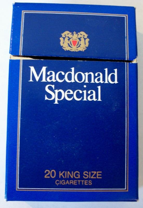 Macdonald Special, King Size - vintage Canadian Cigarette Pack